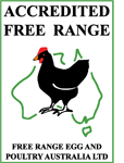 Accredited: Free Range Egg and Poultry Australia Ltd